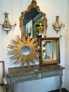 Antique mirrors at MAI in Houston.