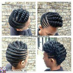 Flat Twist Braids Styles to Rock This Next Event Hello beautiful ladies. The hairstyles invoke are the flat twist braids. Natural Hair Twists, Pelo Natural, Natural Hair Updo, Natural Hair Styles, Flat Twist Out, Flat Twist Updo, Twist Braids, Flat Twist Styles, Twist Weave