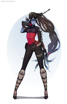 Overwatch: Widowmaker by clayscence on DeviantArt Fatale Overwatch, Overwatch Widowmaker, Overwatch Memes, Overwatch Fan Art, Game Character, Character Concept, Overwatch Video Game, Veuve, Fanart