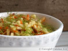 Fennel and Apple Slaw (paleo and gluten-free) #fennel #apple #slaw #paleosidedishes