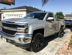 Chevy Trucks lifted Ideas For You Offroad 2008 Chevy Silverado 1500, Silverado Single Cab, Single Cab Trucks, Silverado Truck, Chevy 4x4, 2016 Silverado, Chevrolet Silverado, New Pickup Trucks, Lifted Chevy Trucks