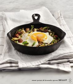 Sweet Potato Brussels Sprout Skillet   25 Delicious Ways To Eat Eggs For Dinner