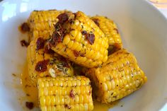 corn with sundried tomatoes and thyme