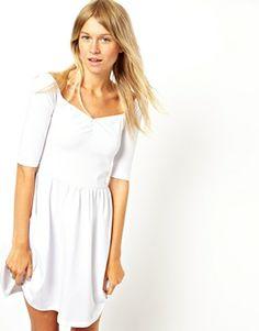ASOS Skater Dress with Off Shoulder Detail