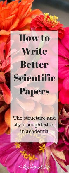 Write better scientific papers for academia