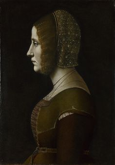 Profile Portrait of a Lady Artist: Attributed to Giovanni Ambrogio de Predis Date made: probably about 1500