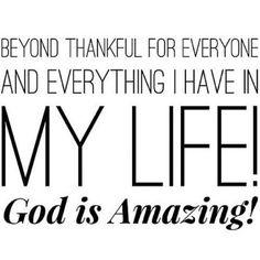 GOD IS AMAZING <3