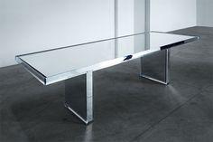 Prism Mirror Table for Glas Italia by Tokujin Yoshioka for Glasitalia   Yellowtrace