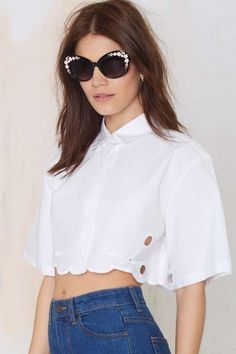 Alice McCall Ball Boy Crop Blouse - What's New