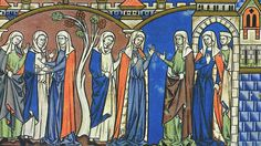 maciejowski bible 1250 headresses 3 styles: veil, veil & wimple, barbette