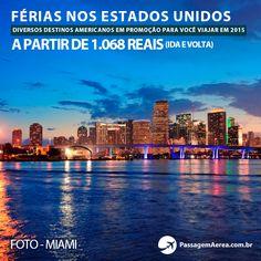 Miami, Los Angeles, Washington e Orlando.  Confira destinos em promoção nos Estados Unidos no período de 2015: https://www.passagemaerea.com.br/ferias-2015-estados-unidos.html  #miami #losangeles #washington #orlando