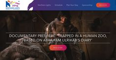 """Announcing the world premier of the documentary """"Trapped in a Human Zoo: Based on Abraham's Diary"""" at the Northern Lights 2016 trade show in Ottawa, Canada."""
