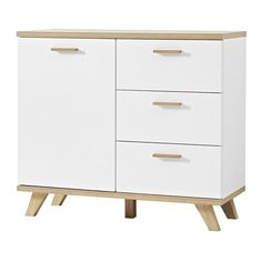 Ohio Sideboard In White And Solid Oak With 3 Doors And 3 Drawers Features: •Ohio Oak 1 Door Chest Of Drawer In White Front With 3 Drawers •Solid Oak And MDF With White Fronts Finish •Robust ABS edging  •1 Door •3 Drawer •Door Damper •Self Closing Drawers •Wooden Handles •Wooden Legs #furnitureinfashion #chestofdrawers