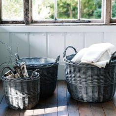 Zinc Lined Willow Basket