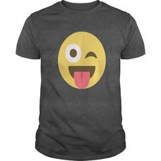 EmojiTees: Face with Tongue Stuck Out Smiley Emoji T Shirt