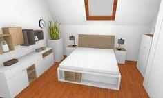 Sypialnia - 4 You by VOX myślałam o takim łóżku, jest podnoszone (ma skrzynię) i te półeczki bardzo by mi się przydały
