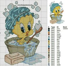 Schema titti bagnetto punto croce cross stitch for kids, cross stitch baby, cross stitch Disney Cross Stitch Patterns, Cross Stitch For Kids, Cross Stitch Baby, Cross Patterns, Cross Stitch Animals, Counted Cross Stitch Patterns, Cross Stitch Designs, Cross Stitch Embroidery, Hand Embroidery