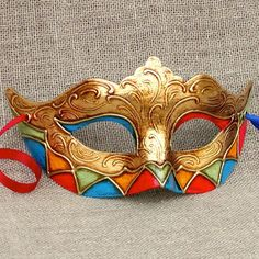 Colombina Romantic Harlequin 4 Venetian Masquerade Masks, Venetian Carnival Masks, Ceramic Mask, Porcelain Ceramics, Makeup Mascara, Traditional Japanese Tattoos, Gothic Fairy, Lowbrow Art, Eye Art