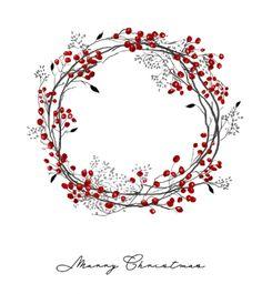 ♥ merry Christmas wreath sketch - Holiday wreaths christmas,Holiday crafts for kids to make,Holiday cookies christmas, Noel Christmas, Christmas Greetings, Christmas Crafts, Christmas Sketch, Christmas Drawing, Winter Christmas, Christmas Ideas, Watercolor Christmas Cards, Watercolor Cards