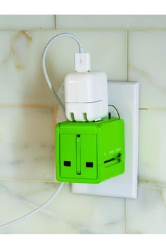 Universal Travel Adapter - for all my Euro gadgets Travel Items, Travel Gadgets, Cool Gadgets, Travel Things, Travel Stuff, Travel Hacks, Travel Abroad, Travel Packing, Travel Usa