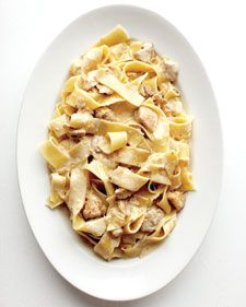 Pappardelle with Creamy Chicken Sauce - This rich and creamy pasta dish is a great example of how satisfying Italian comfort food can be. Instead of pappardelle, try the recipe with tagliatelle or fettuccine.