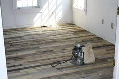 Recycled pallet floors. Flooring at its cheapest!