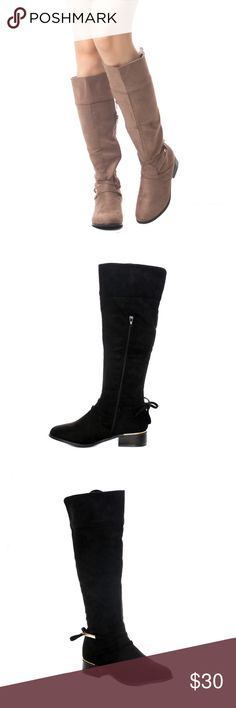 """Women's Tall Suede Knee High Chunky Heel Boots These stylish Soho Shoes Boots are a wardrobe must have. Great with a variety of outfits and available in multiple colors and sizes  Material: Vegan Suede (man-made) Sole: Rubber Heel Height: 2"""" Approx Soho Girls Shoes Over the Knee Boots"""