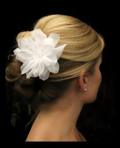Cecilia bridal hair flower wedding hair flower by AmieNoelDesigns, $42.00