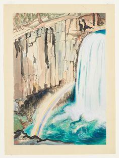 Whitney Museum of American Art: Chiura Obata: Rainbow Falls, Inyo National…