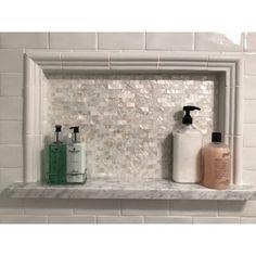 Peel And Stick Tile, Stick On Tiles, Shower Niche, Tile Trim, 3d Texture, Joss And Main, Bath Remodel, Shower Remodel, Kitchen Remodel