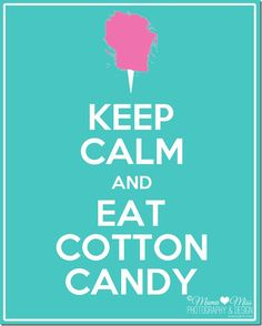 Eat cotton candy