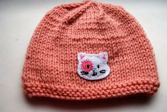 Handmade Knit Hat for a 36 Month Baby Girl by TheCraftyEuropean, $28.00