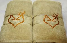 Buck and Doe Bath Towel sets in Tan and Copper will make the perfect gift. Towel…