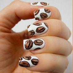 Coffee Bean Nail Art // Torani Loves This!