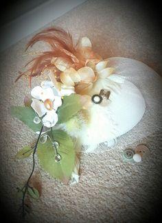 Autumn fascinator handmade by Lou Shabby Chic