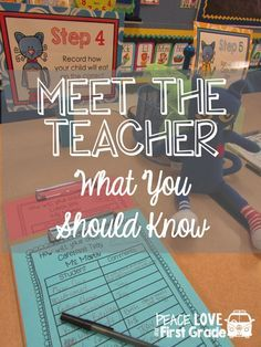 Meet the Teacher-Ideas and organization for Open House and Back to school night!