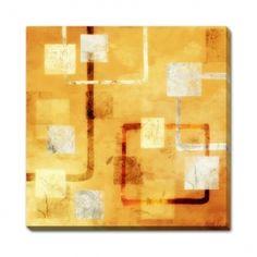 Magazin online de tablouri si postere de arta, tablouri canvas decoratiuni pictura moderna abstract picturi religioase reproduceri de arta fotografii - ABSTRACT - Orange Connected Forms I