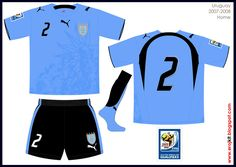 Uruguay - home jersey (2006)