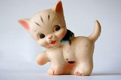 Rubber Squeak  Toy Kitten