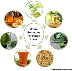 Lime Juice, Chamomile Tea, Cabbage Juice, Fenugreek Seeds, Carrots Juice, Spinach Juice, Honey are the Home Remedies for Peptic Ulcer