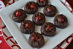 Double Chocolate Cherry Cookies I made these years (and years) ago. they are fab, gotta put them back into rotation.