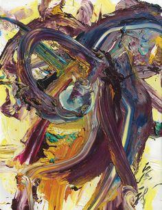 "thunderstruck9: ""Kazuo Shiraga (Japanese, 1924–2008), Yugi, 1994. Oil on canvas, 145.5 × 112 cm. """