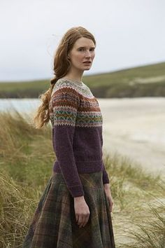 Ravelry Ravelry: Bressay pattern by Marie Wallin - Motif Fair Isle, Fair Isle Pattern, Fair Isle Knitting Patterns, Knit Patterns, Stitch Patterns, Fair Isle Pullover, Mode Inspiration, Modest Fashion, Hand Knitting