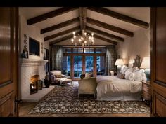 If you are tired of your master bedroom, you can incorporate a few changes that make a big difference. Romantic master bedroom interior design ideas can include updating your wall finishes with a two-. Romantic Bedroom Design, Rustic Master Bedroom, Master Bedroom Design, Dream Bedroom, Home Bedroom, Master Bedrooms, Rustic Bedrooms, Bedroom Decor, Bedroom Designs
