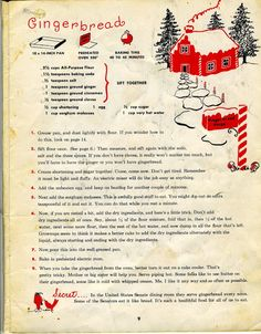 Gingerbread Recipe from a childs cookbook. - Jeff Wilson - Gingerbread Recipe from a childs cookbook. Gingerbread Recipe from a childs cookbook. Christmas Gingerbread House, Christmas Sweets, Christmas Cooking, Christmas Goodies, Gingerbread Houses, Christmas Kitchen, Gingerbread Recipe For House, Gingerbread Recipes, Gingerbread Cake