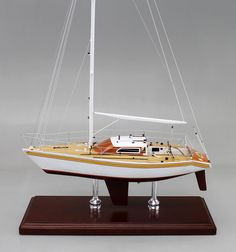 "A recently completed 24"" replica of a G 30. We can build a model of YOUR sailboat today. Full or half hull models available."