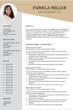 Looking for a free, editable resume template? Sign up for our job search tips and download this template for free. You can easily adjust it in Microsoft Word. #resumetemplate #resume #jobsearch #jobhunt #freeresume