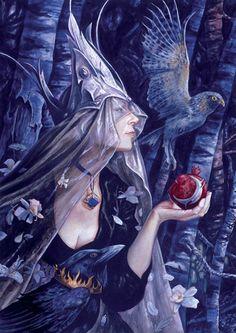 Fairy Queen bearing Fruit / by Brian Froud (Morrigan) Brian Froud, Magical Creatures, Fantasy Creatures, Dark Fantasy, Fantasy Art, Kobold, Fairy Queen, Nature Spirits, Fairy Art