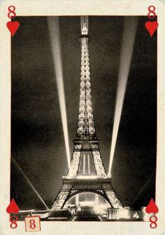 The Eiffel tower alight 1937