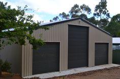 Customised Garage  For Quotes please email: sales@allshedsolutions.com.au